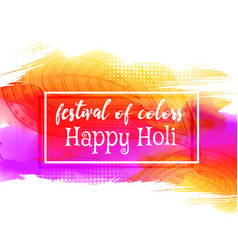 creative happy holi festival background vector image vector image