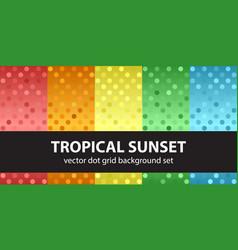 polka dot pattern set tropical sunset seamless vector image