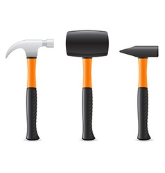 tool hammer 04 vector image vector image