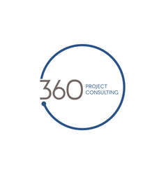 360 consulting logo symbol vector