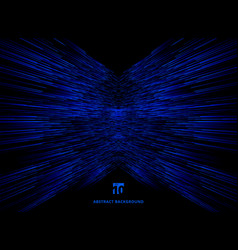 abstract technology data connection speed blue vector image
