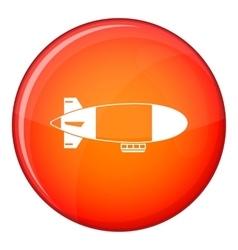 Aerostat airship icon flat style vector