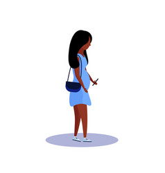 African american pregnant woman profile isolated vector