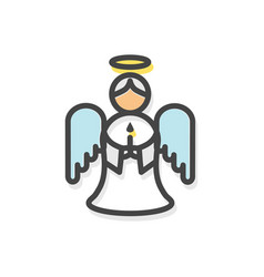 angel with wings christmas vector image