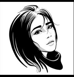 asian girl portrait vector image
