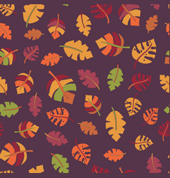 autumn leaf seamless pattern fall design vector image