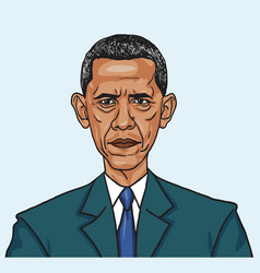 Barack obama caricature vector