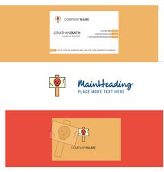 Beautiful danger board logo and business card vector