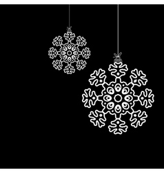 Black and white christmas ball EPS8 vector