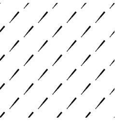Black baseball bat pattern vector