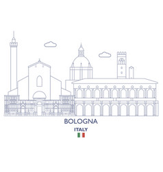 bologna city skyline vector image