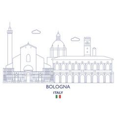 bologna city skyline vector image