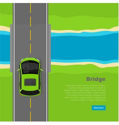 bridge conceptual flat web banner vector image