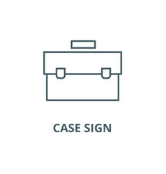 case sign line icon case sign outline vector image