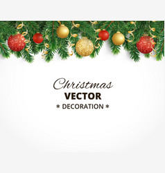 Christmas background with fir tree garland vector