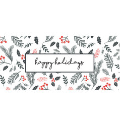 Christmas poster flyer banner greeting card vector