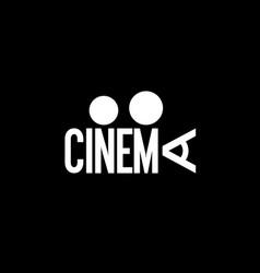 cinema wordmark vector image