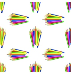 Colorful Pencils Seamless Pattern vector