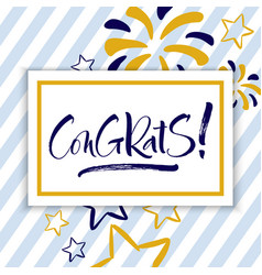 congrats hand lettering vector image