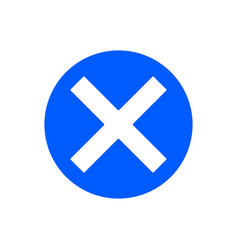 delete glyph icon vector image