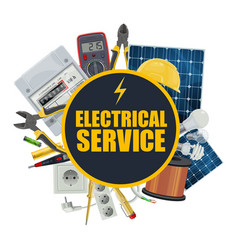 Electricity equipment electrical service vector