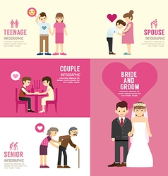 Family people flat design with icons concept vector