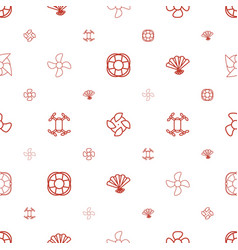fan icons pattern seamless white background vector image