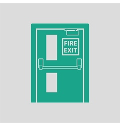 Fire exit door icon vector
