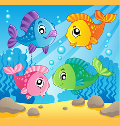 Fish theme image 1 vector