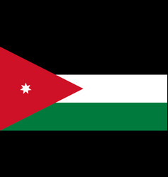 flag in colors of jordan image vector image