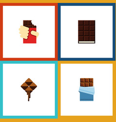 Flat icon cacao set of shaped box bitter vector