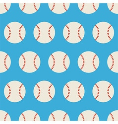 Flat Seamless Sport and Recreation Baseball vector image