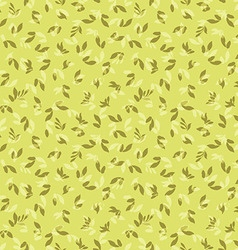 Floral pattern with leaves vector image