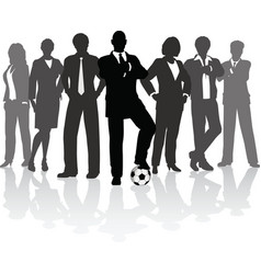 football business team vector image