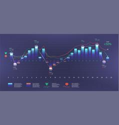 Futuristic infographic template vector