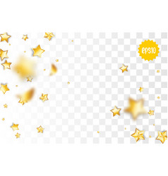 golden holiday star confetti random falling vector image