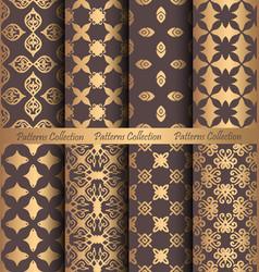 golden patterns forged vintage design vector image