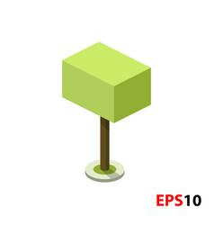 green tree isometric vector image