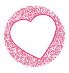 heart shape frame for message vector image