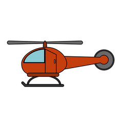 helicopter aviation aircraft vector image