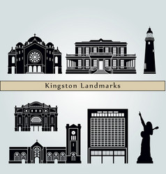 kingston landmarks vector image