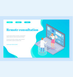 landing page online medical consultation vector image