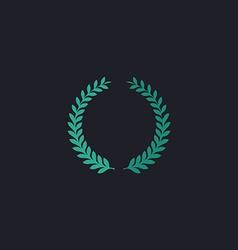 Laurel wreath computer symbol vector