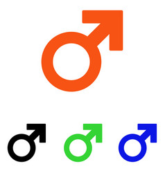 male symbol flat icon vector image