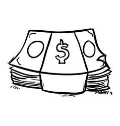 Money doodle draw vector