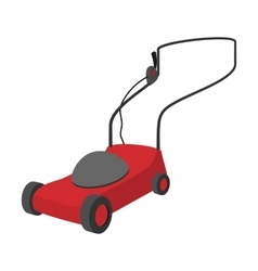 Mower cartoon icon vector
