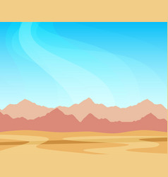 panorama with mountains and desert under blue sky vector image