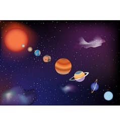Parade of planets vector image