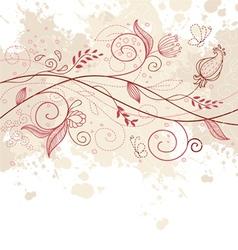 Pattern doodle pink vector