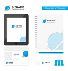 Planet business logo tab app diary pvc employee vector
